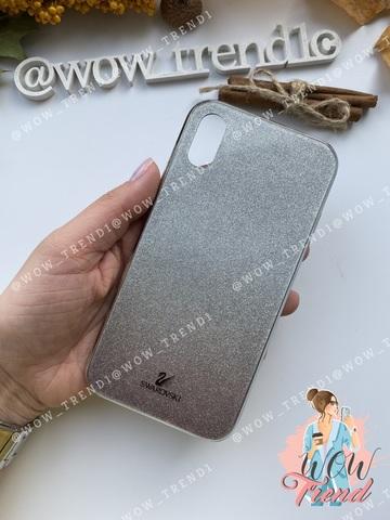 Чехол iPhone X/XS Swarovski Case /black/