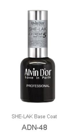 Alvin D`or  Лак-БАЗА для ногтей SHE-LAK BASE Coat  5свойств ADN-4801 15мл