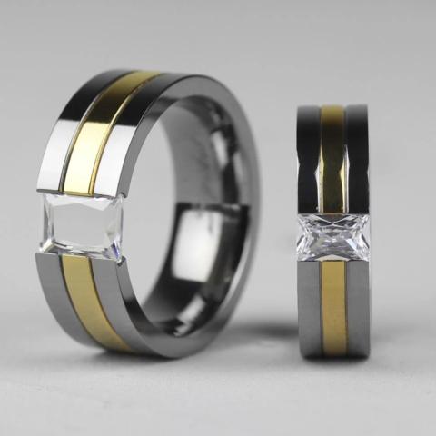 Титановые кольца мужские и женские SPIKES R-TI-3105