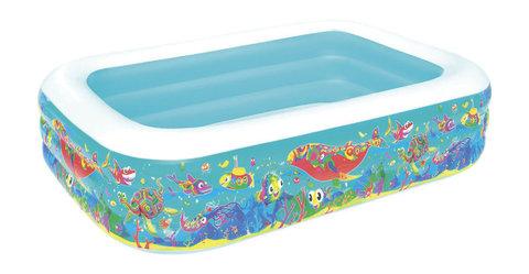 Бассейн с надувными бортами (180*125*60 см) в коробке, Е30935