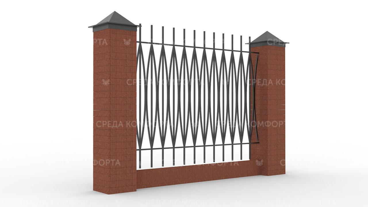 Забор из профильной трубы ZBR0162