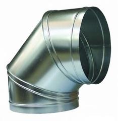 Отвод (угол/колено) 90 градусов D 315 мм оцинкованная сталь
