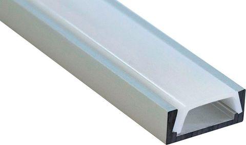Профиль алюминиевый накладной, серебро, CAB262 2000x6x16мм