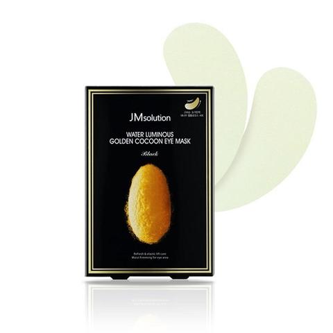 JMsolution Water Luminous Golden Cocoon Eye Mask Black лифтинг-патчи для глаз с протеинам шелка