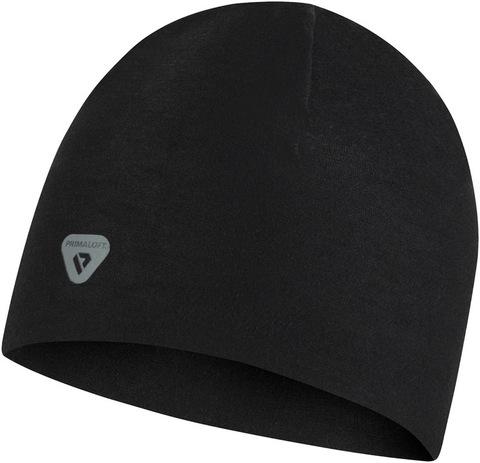 Тонкая теплая спортивная шапка Buff Hat Thermonet Solid Black фото 2