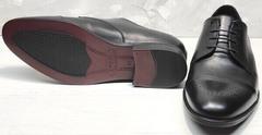 Броги туфли классические мужские Ikoc 2249-1 Black Leather.
