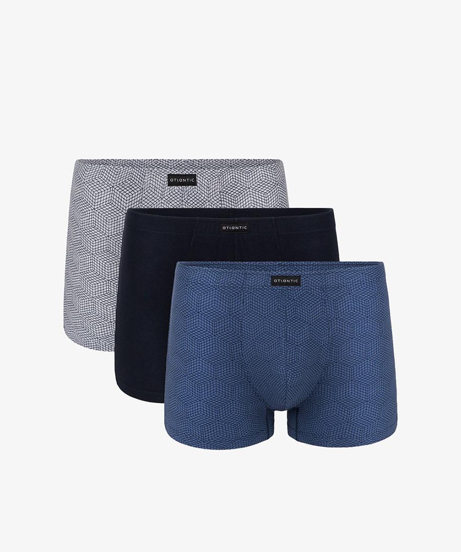 Трусы мужские шорты 3MH-002 хлопок. Набор из 3 шт.