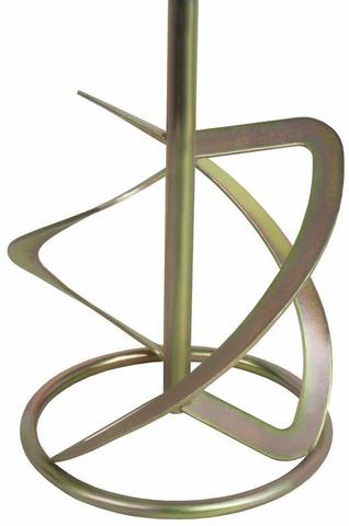 Насадка для перемешивания ПРАКТИКА хвостовик М14, 160 х 600 мм, гипс, цемент, клей д/плитк (779-486)