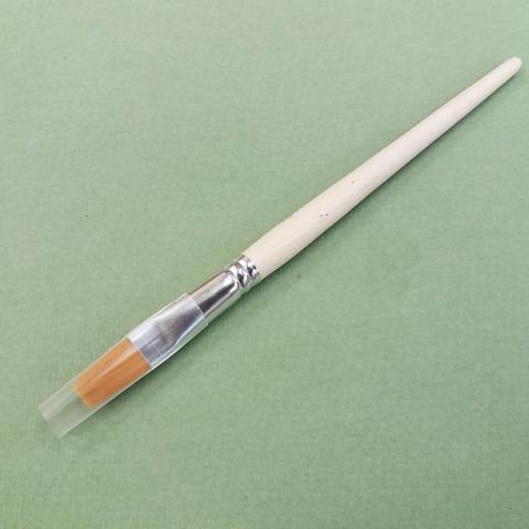Кисть плоская удлиненная №12, синтетика, ХМ