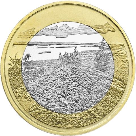 """5 евро Финляндия """"Национальный парк Коли."""" 2018 год"""