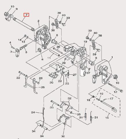 Болт кронштейна для лодочного мотора F9,9 Sea-PRO (21-7)