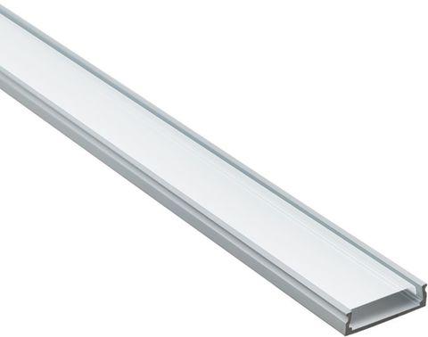 Профиль алюминиевый накладной широкий, серебро, CAB263 2000x20мм