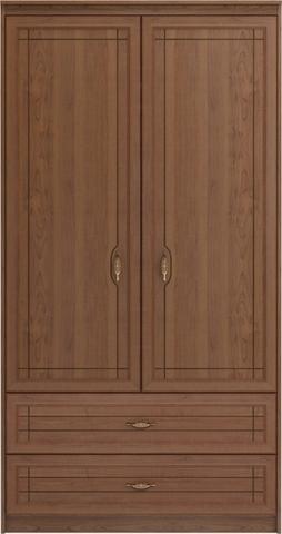 Шкаф двухдверный для одежды и белья с ящиками Лондон 17 Ижмебель клен торонто