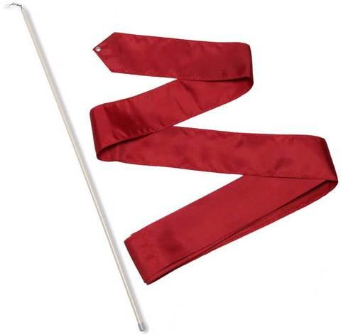 Лента гимнастическая 6,0 м с палочкой  56 см Бордовый СЕ6-18