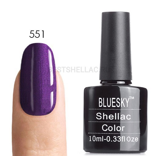 Bluesky Shellac 40501/80501 Гель-лак Bluesky № 40551/80551 Grape Gum, 10 мл 551.jpg