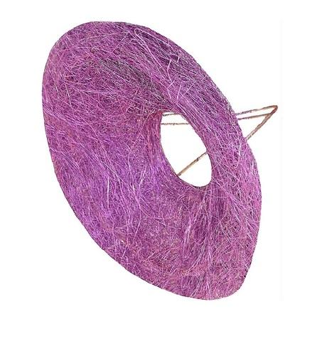 Каркас для букета гладкий (сизаль, диаметр: 30 см) Цвет: фиолетовый