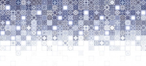 Плитка настенная CERSANIT Hammam 440х200 рельеф синий HAG451D