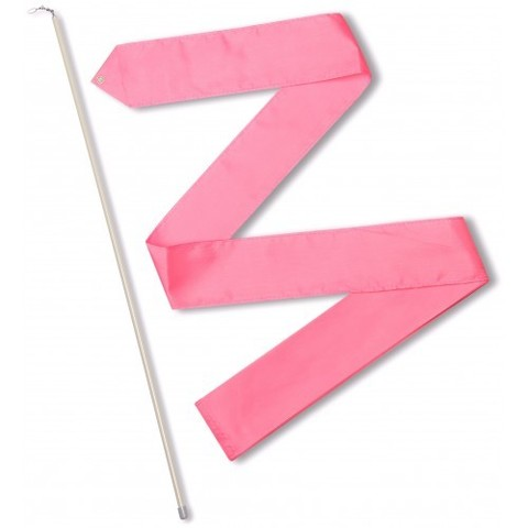 Лента гимнастическая 6,0 м с палочкой  56см Розовый СЕ6-08