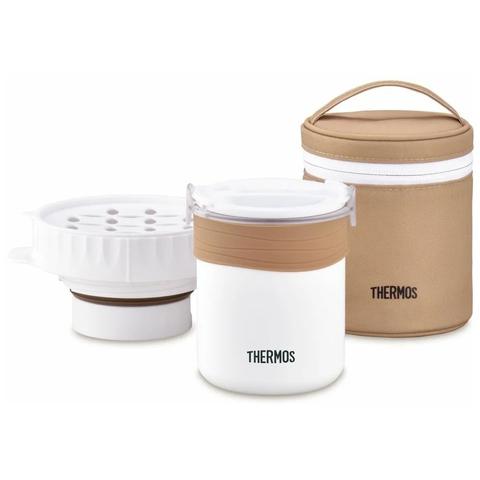Термос для еды с чехлом и емкостью Thermos JBS-360 (0,36 литра), белый