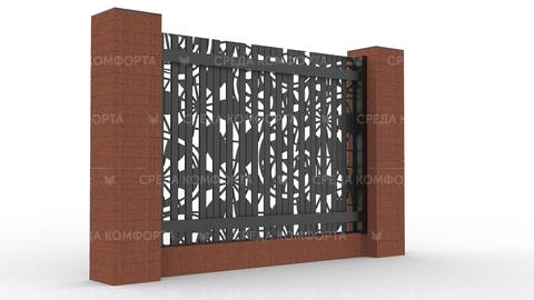 Забор из профлиста 2500х2000 мм ZBR0028 (ворота)