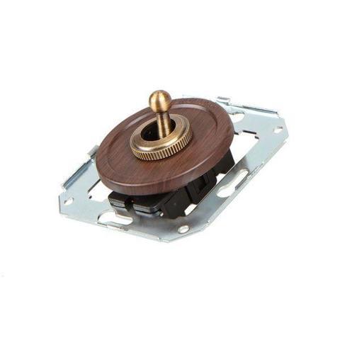 Выключатель тумблерныйный двух позиционный для внутреннего монтажа проходной. Цвет Венге. Salvador. CL41WG
