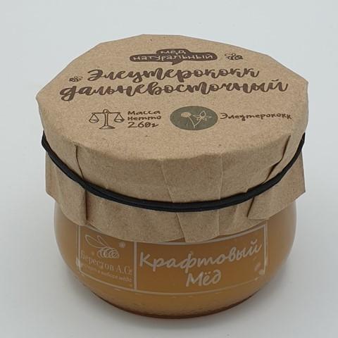 Мёд натуральный крафтовый Элеутерококк дальневосточный БЕРЕСТОВ А.С., 260 гр