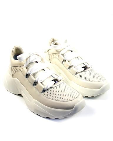 бежевые кроссовки Mario Muzi