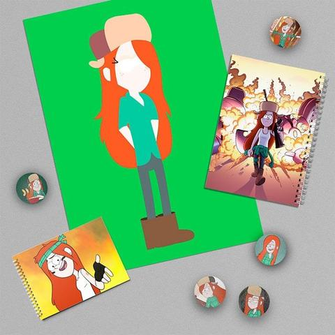 Венди Кордрой: набор из плаката А3, тетради, блокнота и 5 значков