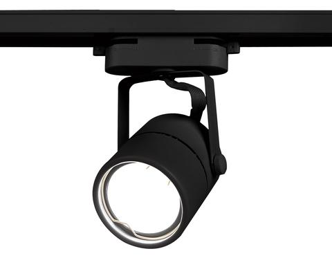 Трековый однофазный светильник со сменной лампой GL5102 BK черный GU10 max 12W