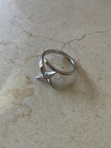 Кольцо Комета, серебряный цвет