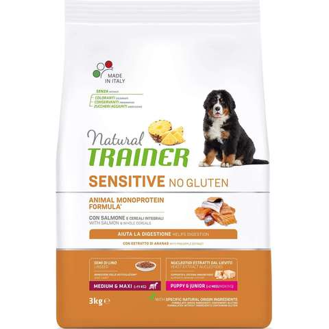 Сухой корм для щенков TRAINER Natural Sensitive No Gluten Puppy & Junior Medium & Maxi (для средних и крупных пород)