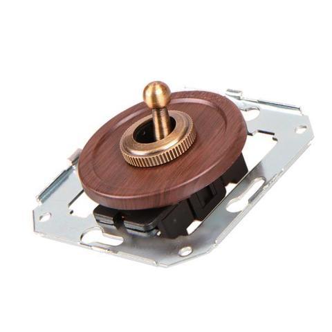 Выключатель тумблерныйный двух позиционный для внутреннего монтажа проходной. Цвет Вишня. Salvador. CL41CH