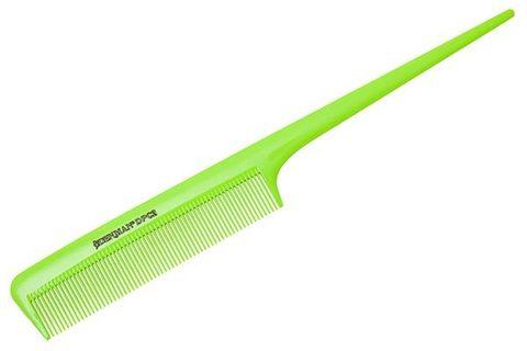 Расчёска Denman Neon Green с хвостиком