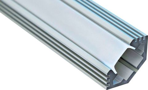Профиль алюминиевый угловой с фаской, серебро, CAB272 2000x10x25мм