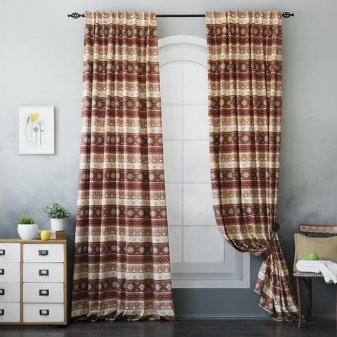 Комплект штор с подхватами Уиллен коричневый