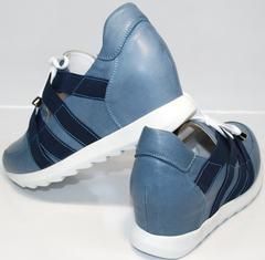 Кожаные женские кроссовки Ledy West 1484 115 Blue.