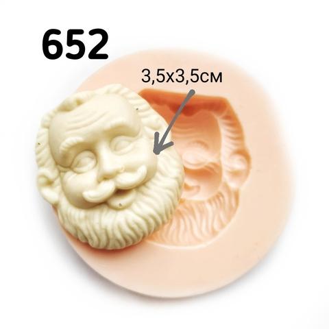0652 Молд силиконовый. Голова. Дедушка.