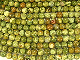 Нить бусин из яшмы риолит, шар гладкий 8мм