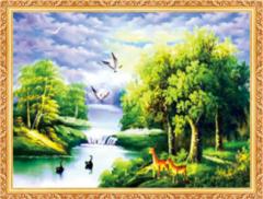 Алмазная Мозаика 40x50 Животный мир на воде