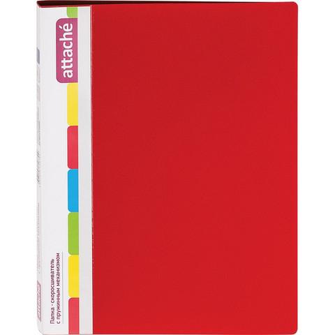 Скоросшиватель пластиковый с пружинным механизмом Attache А4 до 150 листов красный (толщина обложки 0.7 мм)