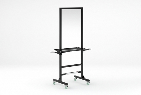 Зеркало MODUS с двумя фенодержателями и блоком розеток