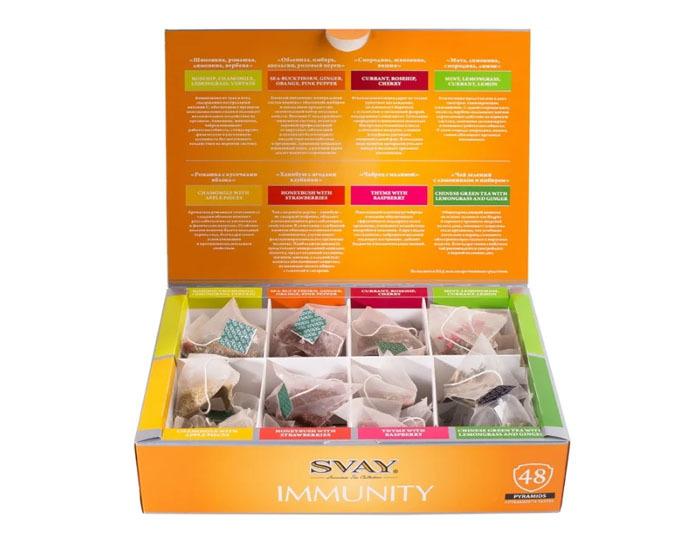 цена набор 8 видов чая Svay IMMUNITY boost tea