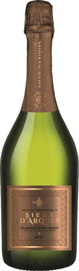 Вино игристое Бланкетт Сьер д'Арк Брют сухое белое з.н.м.п регион Лангедок 0,75л.