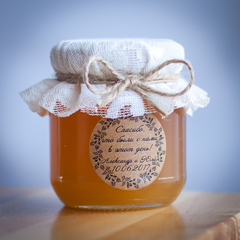 Бонбоньерка с медом на свадьбу, 130 грамм