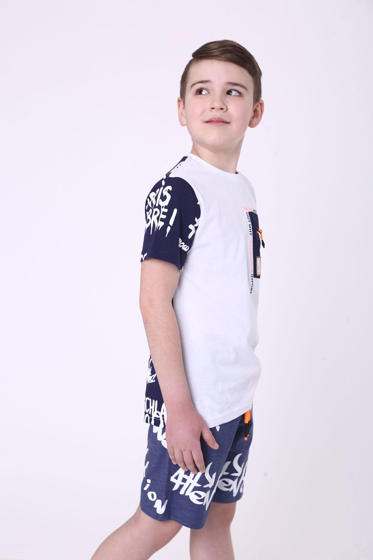Футболка для мальчика карман Cegisa Турция, 0703 (116-134)