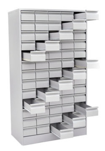 Шкаф картотечный для карточек - фото