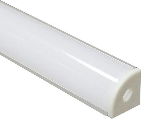 Профиль алюминиевый угловой круглый, серебро, CAB280 2000x16x16мм
