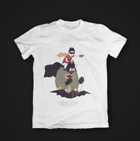 Футболка Batman & Robin - S. Женская