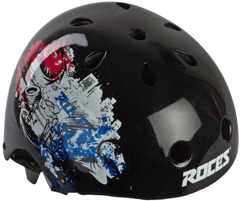 301430-B S Шлем защитный взрослый ROCES CE Metropolis Aggressive helmet черный р.S