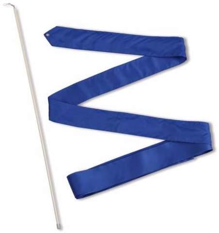 Лента гимнастическая 6,0 м с палочкой  56см Васильковый СЕ6-22